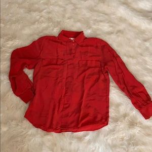 Christian Dior silk red blouse